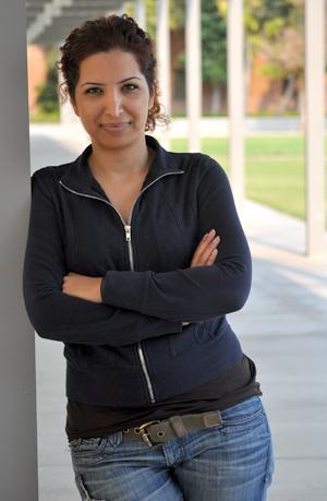 Esha Momeni is seen outside Manzanita Hall, Thursday, Aug. 13, 2009. Photo Credit: Jonathan Pobre