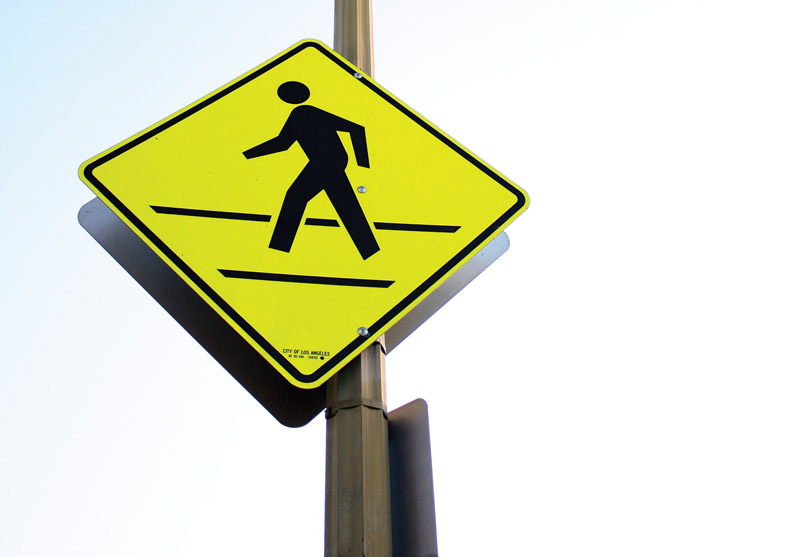 Crosswalks on and around the CSUN campus have been noted as dangerous to pedestrian safety. Photo Credit: Hannah Pedraza / Photo Editor