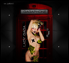 Lady Gaga in one of her provocative posses