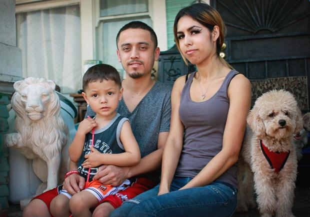 Romo has been together with his girlfriend Angelica Chavez, 22, since high school. In addition to sharing a roof with three different generations of the Romo family, they have several dogs. One of which is Snoopy, the house guard dog. Photo credit: Luis Rivas / Senior Reporter