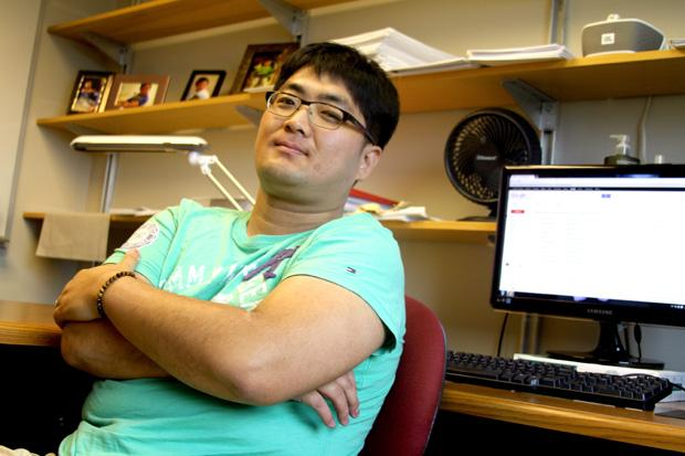 Joon Young Hur, Assistant Professor specializes in researching macroeconomics and hopes to continue his studies once he receives tenure. Photo credit Karla Henry/Daily Sundial