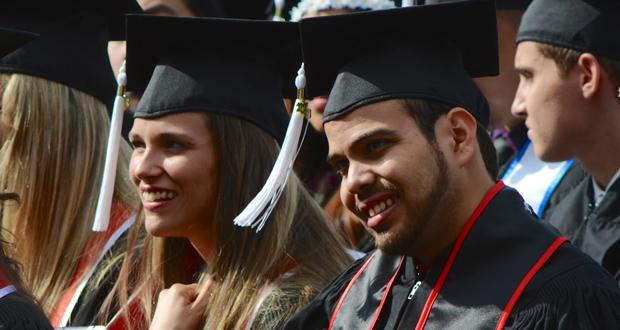 Anthropology students wait for their turn to walk across the stage at the College of Social and Behavioral Sciences graduation May 22. Photo credit: Ken Scarboro / Senior Photographer