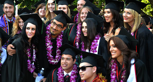 Hundreds of students participated in the College of Health and Human Development graduation on Tuesday. Photo credit: John Saringo-Rodriguez / Photo Editor
