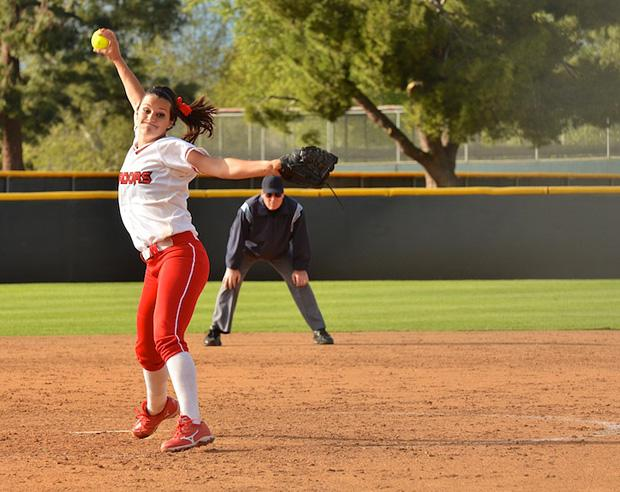 Junior pitcher Mia Pagano winds up a pitch against UCLA on Wednesday, March 6 at home. File Photo / Daily Sundial