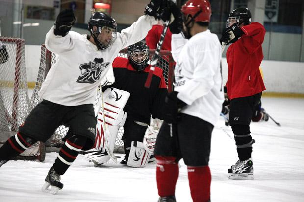 CSUN's ice hockey team practices at 7 a.m. four days a week in preparation for their weekly games. Playing in their second season in the ACHA division, the Matadors will try to improve on last season's 6-12 record. Photo credit: Loren Townsley / Editor in Chief