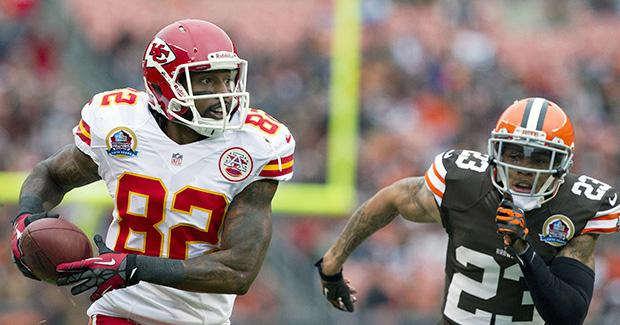 Kansas City Chiefs wide receiver Dwayne Bowe will use his size to exploit an undersized Dallas Cowboys secondary in week two. Photo courtesy of MCT
