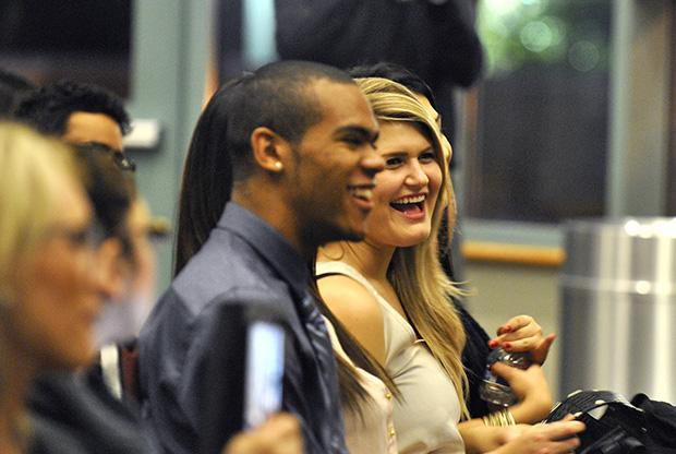 Attendees recieved advice and encouragement from their professors at the PRSSA Induction Ceremony in the Grand Salon on Tuesday evening. Photo credit: Christopher Linares / Contributor