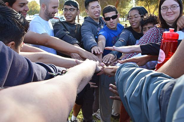 Students spoke about many different topics from bullying to their current classes. 32 of CSUN's LGBTQA club members attended the camping retreat which began on Friday and ended on Sunday. Photo credit: John Saringo-Rodriguez / Photo Editor