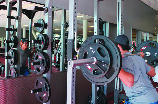 Students, like senior Jose Gonzlez, can earn prizes while working out at the SRC
