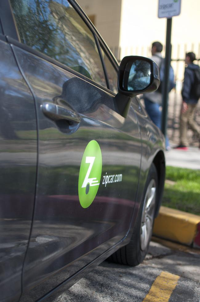 Zipcar, CSUN's newest car-rental service, has been avalible to students since the beginning of spring semester. Students can rent cars on the service's website and pick one up in parking lot F10 for a fee.   Photo Credit: David J. Hawkins / Photo Editor