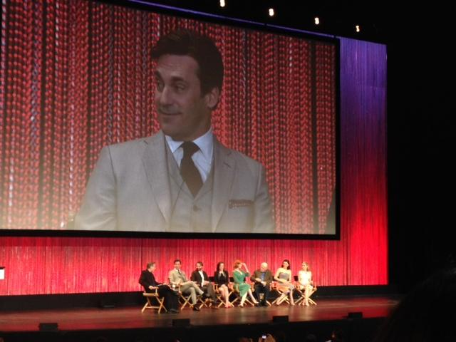 Actor Jon Hamm, who plays ad man Don Draper, answers questions with fellow cast members Friday at PaleyFest 2014. Photo by Neelofer Lodhy, Features Editor