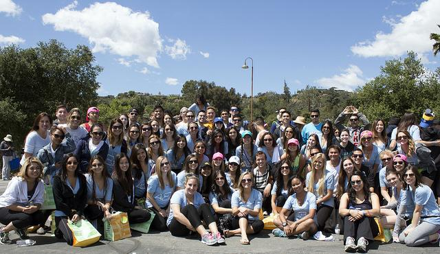 "The sisters Alpha Xi Delta for the CSUN chapter brought over 100 people to the ""Walk now for Autism Speaks"" event at the Rose Bowl on April 26, 2014. The sorority's goal is to raise $32,000 for Autism Speaks. Photo credit by Trevor Stamp"