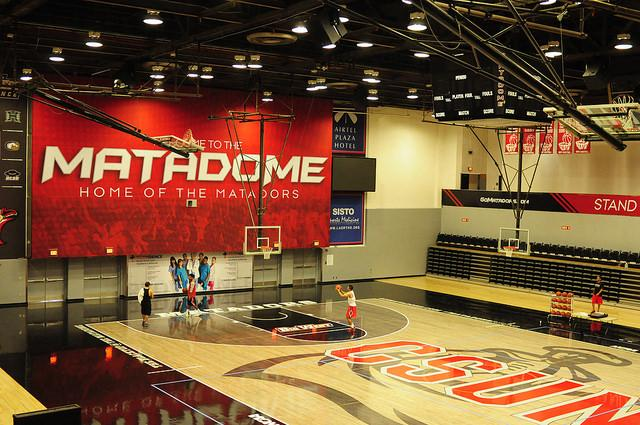 The Matadome is currently the only court featuring a blacktop, the redesign is part of the athletic department's entire rebranding campaign. Photo by Manny D. Araujo.