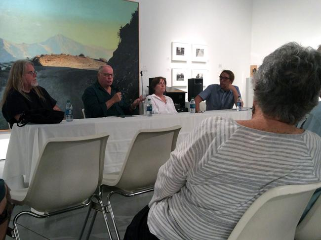The photographers and painters of the work that fill the Art Gallery on campus hold a panel. Discussion of their stories and memories they all had while they lived in the San Fernando Valley were shared with everyone. Photo Credit: Araceli Castillo/Photo Editor
