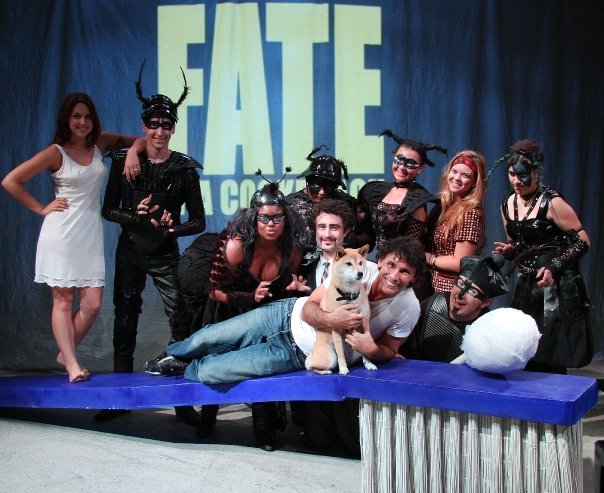 """Cast of """"Fate"""" with dir. Ken Sawyer. Photo Courtesy of William Taylor"""