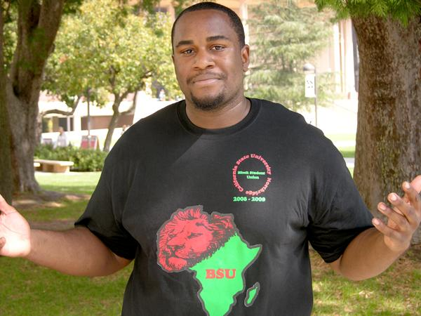 Terrance Stewart is the president of CSUN's Black Student Union (BSU). Photo Credit: Donnella Collison / Staff Reporter