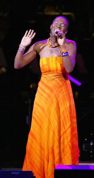 India.Arie, seen here in a 2004 performance at Carnegie Hall, will perform in front of the Oviatt Library on Friday.