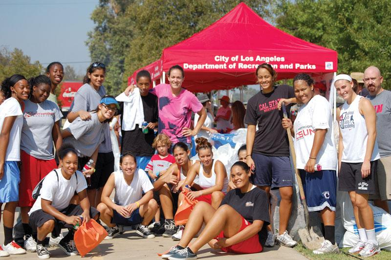 Last weekend the women's basketball team was a part of California Coastal Cleanup Day, helping pick up 300,413 pounds of trash and recyclables. Photo Credit: Sarah Smith / Contributing Photographer