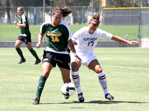 Defender Sydney Vermillion, right, and the Matadors will take on the University of Hawaii on Friday. Photo Caption: Sam Bendall / Contributing Photographer