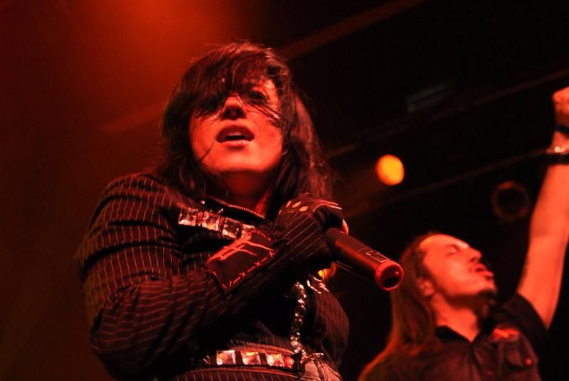 Singer Christina Scabbia rocks out during the Lacuna Coil show Friday night. Photo Credit: Sami Eshagi / Assistant Photo Editor