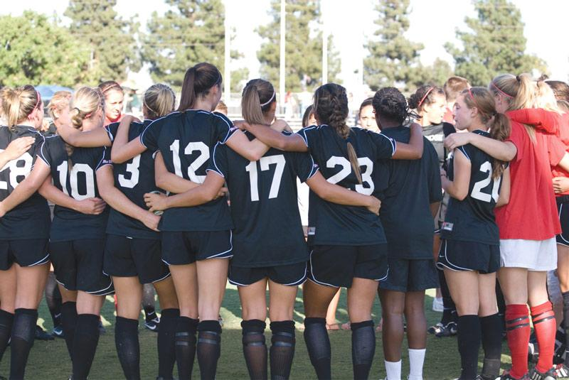 The CSUN women's soccer team got their second straight shut-out victory Friday against the Highlanders. Photo Credit: Mizuho Yamada / Contributing Photographer