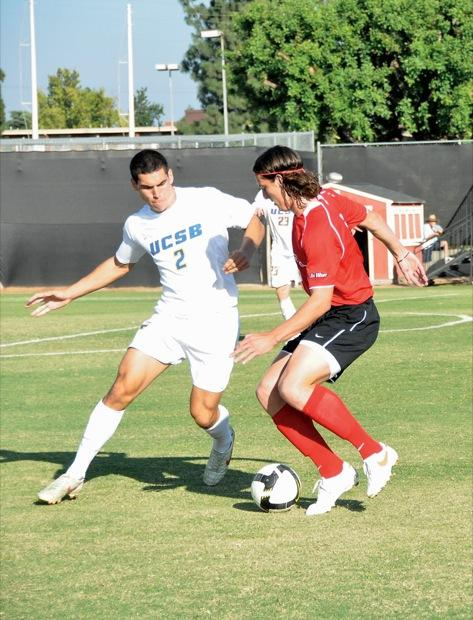 Senior Robert Pate scored the game-winning goal in Sunday's 1-0 upset victory against No. 3 UCSB. Photo Credit: Hannah Pedraza / Photo Editor