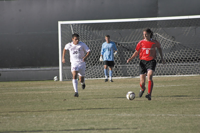 Matador Robert Pate (8) scored his third goal of the season in the win against Riverside Saturday. With the victory CSUN still has a chance at grabbing the fourth and final spot for the Big West tournament. Photo Caption: Zara Aleksanyan / Staff Photographer