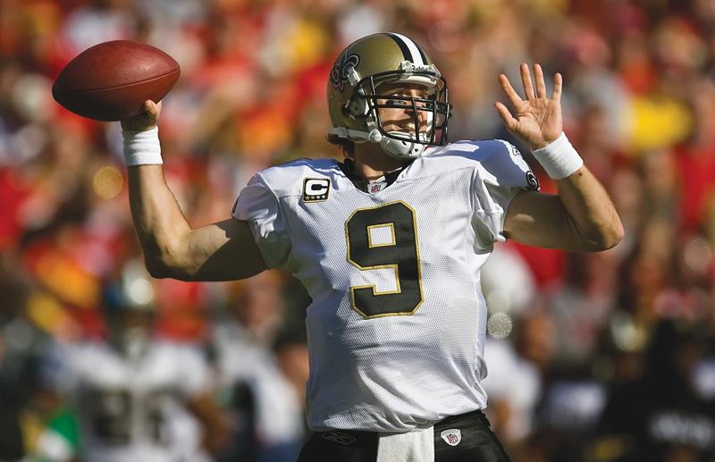 New Orleans Saints quarterback Drew Brees is one of the reasons why his team is 11-0. After the Saints defeated the Patriots on Monday night, many sports experts believe that they are the main contenders to win the Super Bowl.   David Eulitt / MCT