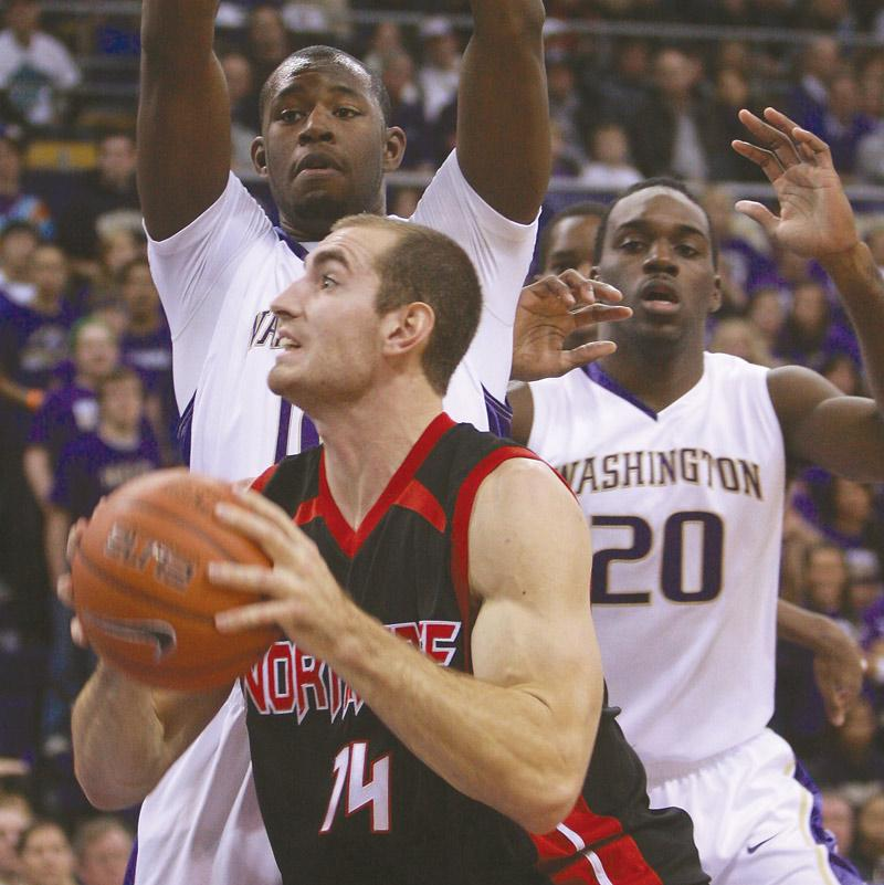 Matador Willie Galick, seen here against Washington Sunday night, scored a game-high 20 points against the Pioneers Tuesday night. Photo Credit: John McLellan / courtesy of the UW Daily