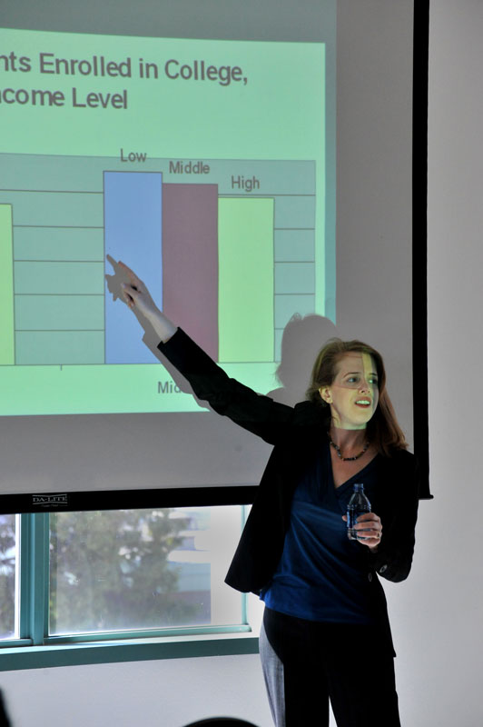 The Gender and Women's Studies' Student Association sponsored a lecture given by UCLA professor Linda Sax on gender issues facing college students on Monday, March 15. Photo Credit: Ryan Hecksel / Staff Photographer