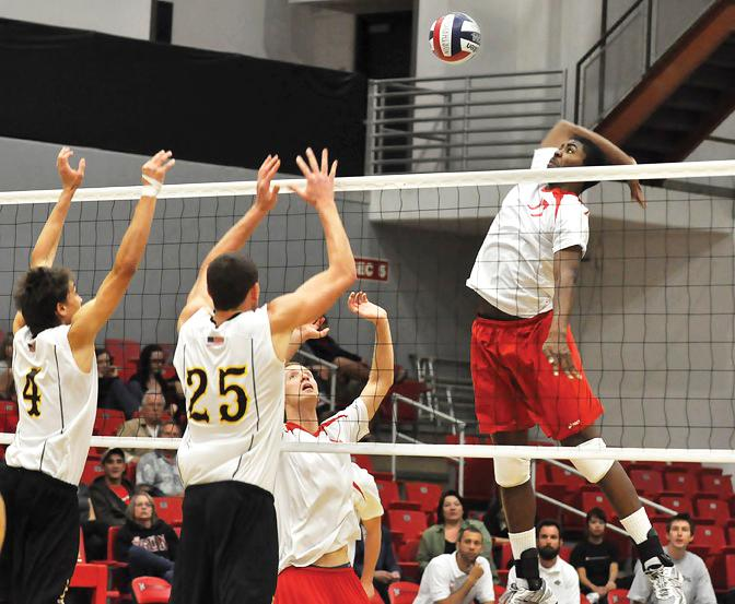 HIT THAT: The Matadors split their road games this weekend and will head back to the Matadome Wednesday night against USC. photo credit: Patrick Dilanchian / assistant photo editor