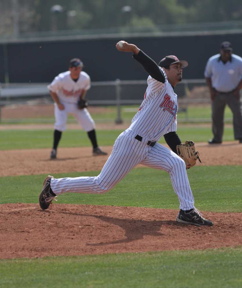 DOMINANCE: Despite a 2-3 record, senior Ryan Juarez leads pitchers who have thrown at least 10 innings with a 2.42 ERA. Photo Credit: Ignacio Marquez / Assistant Sports Editor
