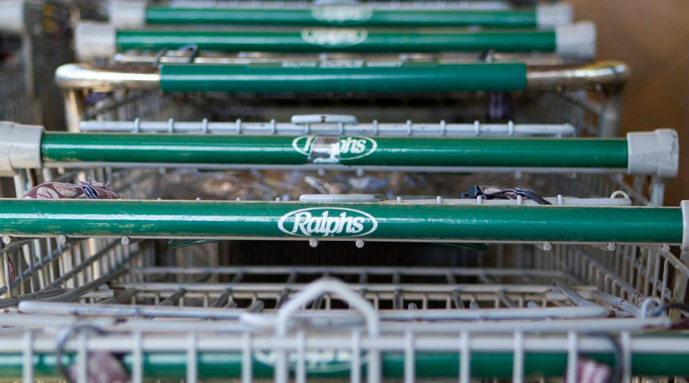 Shopping carts sit outside the Ralphs located at 16940 Devonshire St. in Granada Hills, CA. Kathleen Russell / Daily Sundial