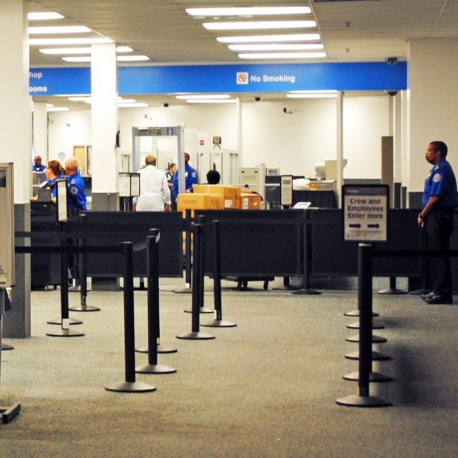 The first security checkpoint for airline passengers at Bob Hope Airport in Burbank.  Andres Aguila / Daily Sundial
