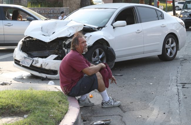 Two car collision near CSUN campus sends one driver to hospital