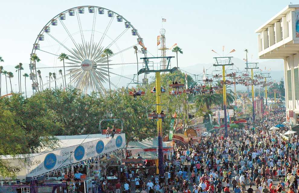 Crowds fill the Fairplex fair grounds Saturday for opening day of the L.A. County Fair in Pomona. Photo Credit: Katie Grayot / Daily Sundial