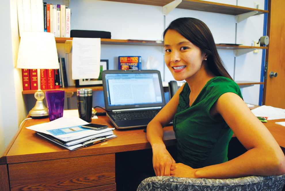 Newly hired assistant professor, Debbie Ma, is on her second week of teaching for the Psychology Department at CSUN and says she's not only