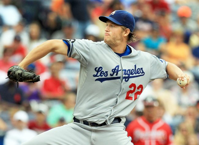 Los Angeles Dodgers left hander Clayton Kershaw delivers a pitch against the Atlanta Braves during 1st-inning action at Turner Field on Sept. 4. Courtesy of MCT