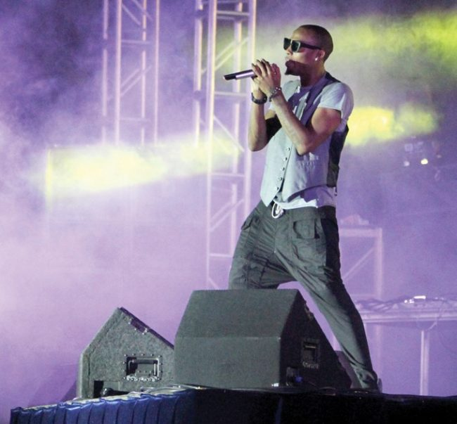 B.o.B. performs at the Big Show at CSUN on Saturday. Other artists who performed were The Cataracs and Kreayshawn. Photo Credit: Tessie Navarro / Visual Editor