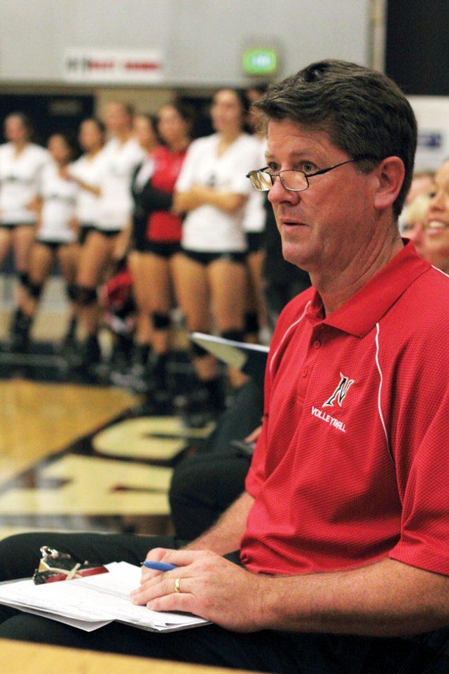 CSUN coach Jeff Stork is looking for more kills from more Matadors. Photo Credit: Simon Gambaryan / Daily Sundial
