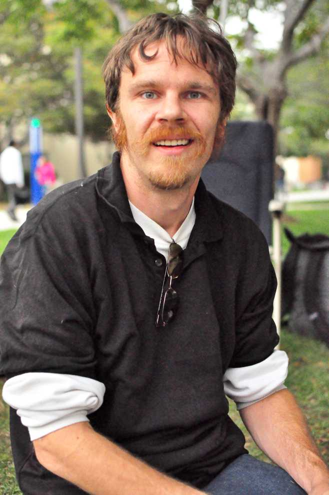 Jeff Woodruff, a full-time student at CSUN, supports the Occupy movement but says his education is his first priority. Woodruff has participated in Occupy CSUN on the Oviatt lawn. Photo Credit: Anthony Carpio