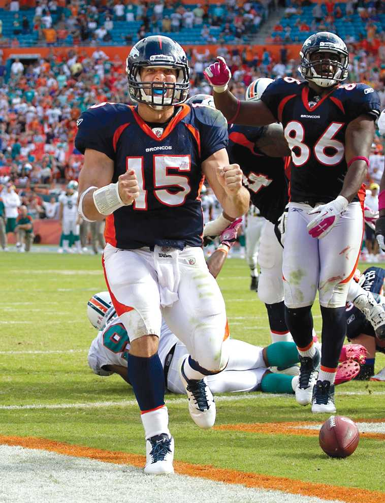 In+four+career+starts%2C+Broncos+quarterback+Tim+Tebow+has+a+2-2+record%2C+including+a+comeback+win+over+the+Dolphins+on+Sunday.+Photo+Credit%3A+Courtesy+of+MCT