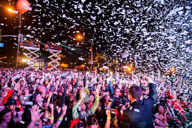 Crowds gather on Santa Monica Boulevard during last year's West Hollywood Halloween Costume Carnaval. Courtesy of Jonathan Moore