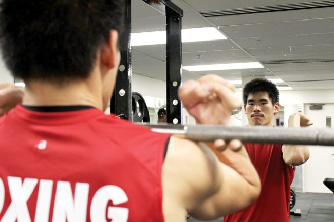 Andrew Shibata, kinesiology major, currently works as a boxing instructor at the CSUN Fitness Centre. Within two years Shibata lost 102 pounds while creating a more healthy lifestyle for himself. Photo Credit: Tessie Navarro / Visual Editor