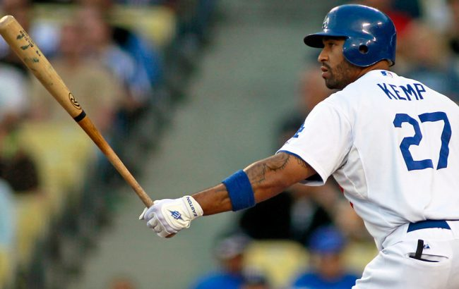Outfielder Matt Kemp, who signed an eight-year deal last week to stay in Los Angeles, was one of the bright spots for the Dodgers during a rough season. Kemp led the National League in home runs and RBI this past season. Photo Credit: Courtesy of MCT