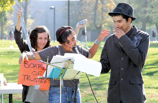 Students for Quality Education hold mock presidential selection on campus