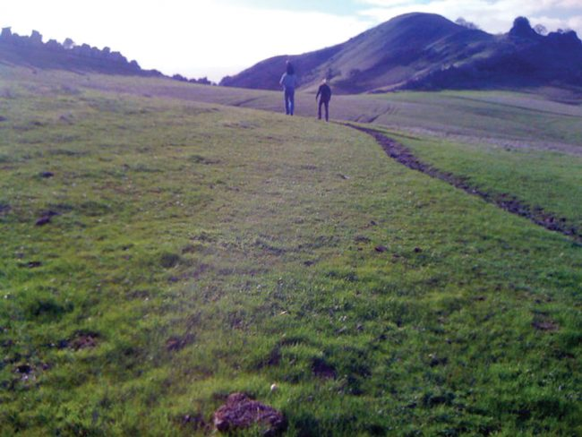 A family hikes towards an exposed dike at Mount Diablo State Park. Photo Credit: Kristin Hugo / Opinion Editor