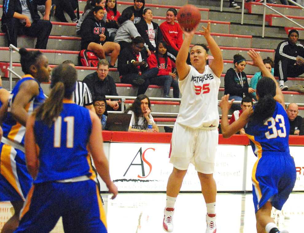 Freshman Jessica Duarte (35) scored 11 points in a win over San Jose State Wednesday. Photo Credit: Andres Aguila / Visual Editor