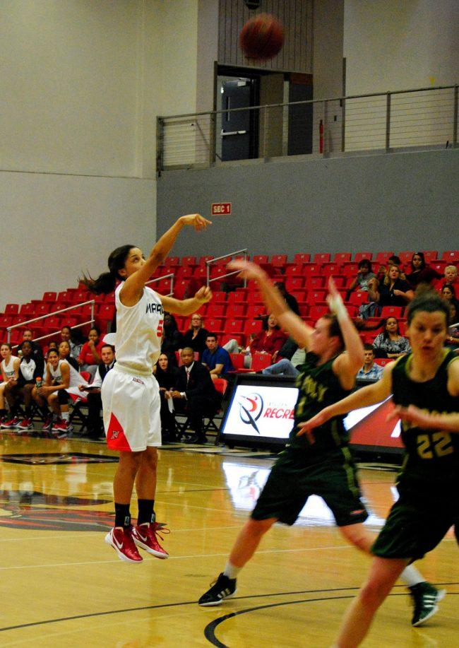 Women's basketball: Guay's treys and Alama's steal land the Matadors a victory against Cal Poly