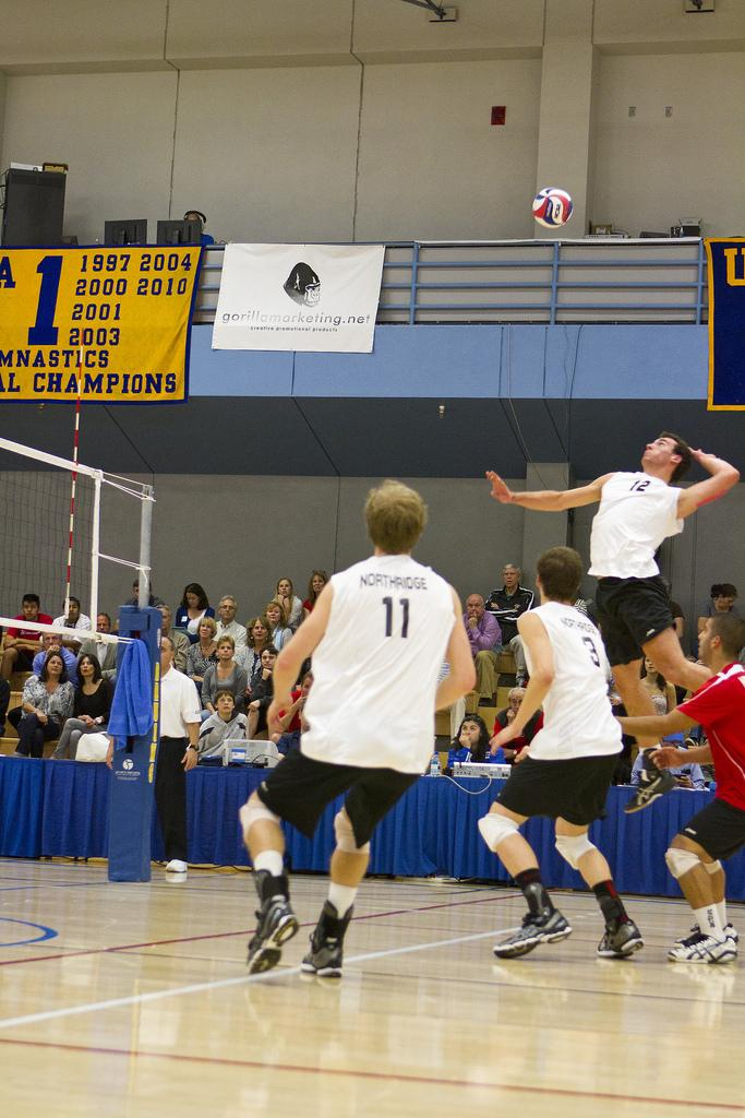 CSUN+opposite+Julius+Hoefer+%2812%29+and+Matt+Stork+%2811%29+had+a+combined+32+kills+in+the+Matadors%27+win+against+Cal+Baptist+Friday+night.+Photo+Credit%3A+Kat+Russell+%2F+Daily+Sundial